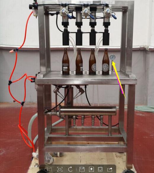 4 Head Manual Bottle Fillerbeer Filling Bottling Kegging